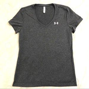 Underarmour Grey Shirt Silver Logo